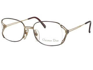 Vintage New Christian Dior 2694 Black / Gold Metal Eyeglasses