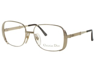 Vintage New Christian Dior 2713 White Gold (40) Metal Eyeglasses