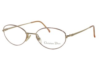 Vintage New Christian Dior 3547 Gold Metal Eyeglasses