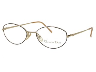 Vintage New Christian Dior 3547 Black/Gold Metal Eyeglasses