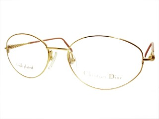 Vintage New Christian Dior 3570 Gold Metal Eyeglasses