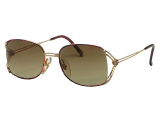 Vintage New Christian Dior 2694 Mixed Pink / Gold Metal Sunglasses