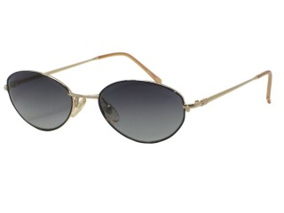 Vintage New Christian Dior 3547 Black/Gold Metal Sunglasses