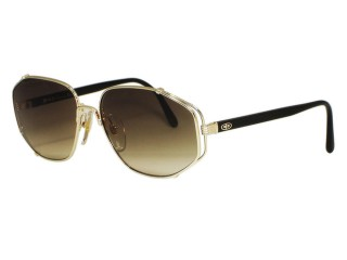 Vintage New Christian Dior 2594 Gold Black Sunglasses
