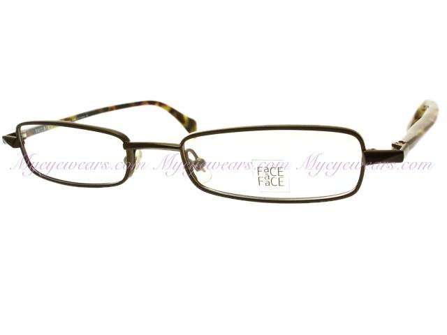 Face a Face-Face a Face eyeglasses ROMAN Brown Metal Frame ...