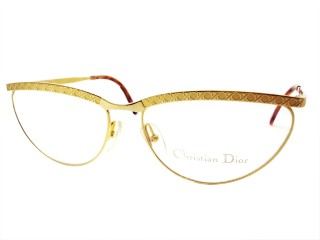 Vintage New Christian Dior 2776 Gold Metal Eyeglasses