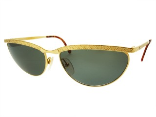 Vintage New Christian Dior 2776 Gold Metal Sunglasses
