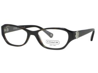 Coach HC6009 Violet 5001 Dark Tortoise Eyeglasses 52mm