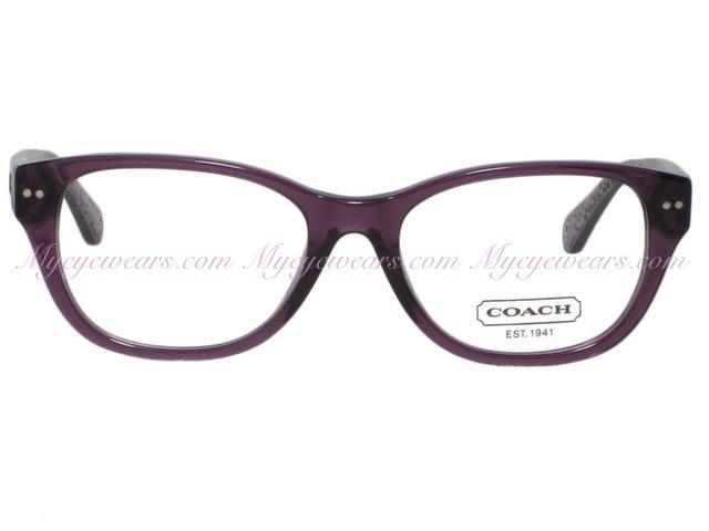 95fbad54c1c9c shop coach hc6029 susie 5043 purple eyeglasses 49mm 27c5e 662b7
