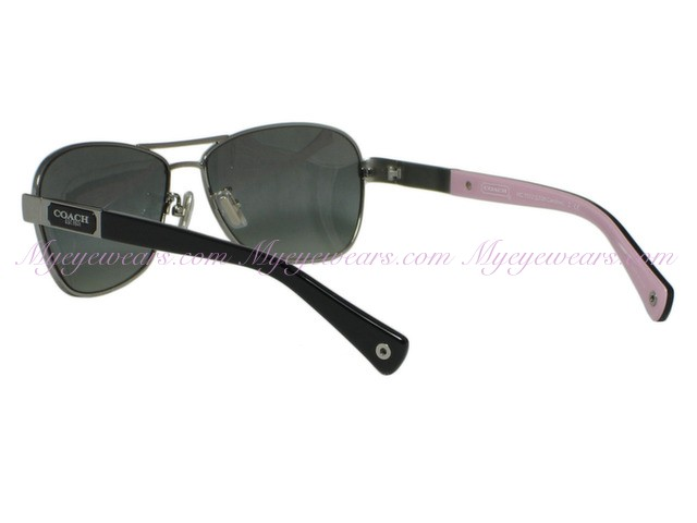 897022e9f16e Coach-Coach HC7012 Caroline 9102/11 Silver / Black Sunglasses ...