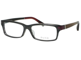 Dune Eyewear DN 105 Gray Wine Plastic Brown Wood Frame