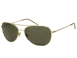 John Varvatos V745 Gold Metal Aviator Sunglasses