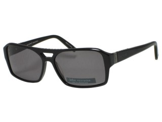 John Varvatos V902 Black Plastic Sunglasses