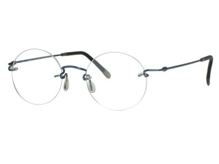 Kazuo Kawasaki Eyewear 631 Long-Lug Navy Blue Eyeglasses