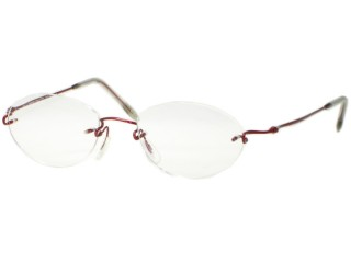 Kazuo Kawasaki Eyewear 634 Burgundy FQ Shape Eyeglasses