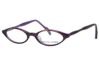 Martine Sitbon Eyewear 6237 Red Purple Plastic Eyeglasses