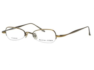Martine Sitbon Eyewear 6717 Antique Bronze Titanium Eyeglasses