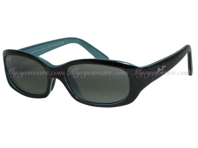 6cb4cac6a628c Maui Jim-Maui Jim Punchbowl 219-03 Black   Blue Polarized Sunglasses ...