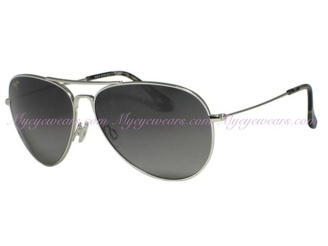d11021bd0b Maui Jim-Maui Jim Mavericks GS264-17 Silver Polarized Sunglasses ...