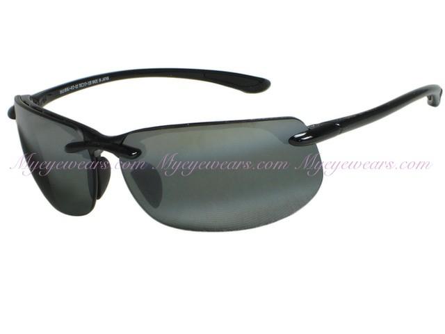753bb24b7cc4 Maui Jim-Maui Jim Banyans 412-02 Gloss Black Polarized Sunglasses ...