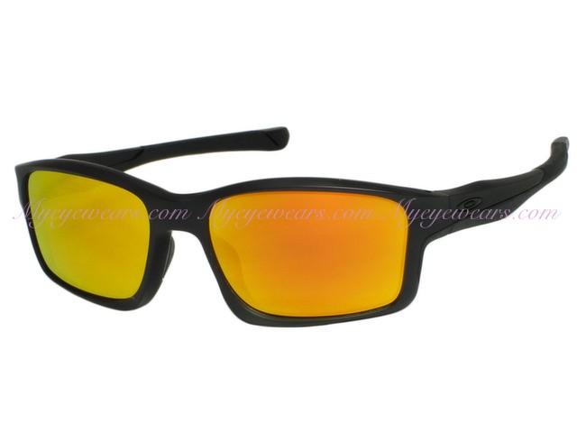 e91c5bf8276ae Oakley-Oakley Chainlink OO9247-03 Matte Black Sunglasses- - Online ...