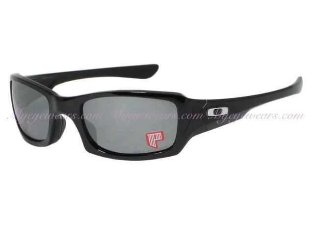 508b75489cf8e6 Oakley-Oakley Fives Squared OO9238-06 Black Polarized Sunglasses ...