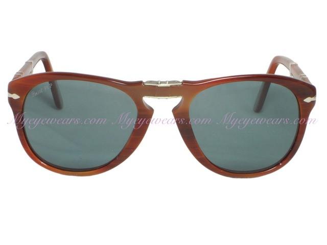 3e9e1da11cd64 Persol-Persol PO714s Folding Sunglasses Striped Nut (957) 52