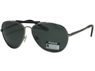 Polaroid U 9303 Aviator Gunmetal Metal Polarized Sunglasses