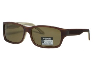 Polaroid U 9352 Brown Plastic Polarized Sunglasses