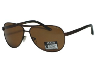 Polaroid X 4308 Aviator Brown Metal Polarized Sunglasses