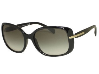 Prada SPR08O 1AB0A7 Black Sunglasses