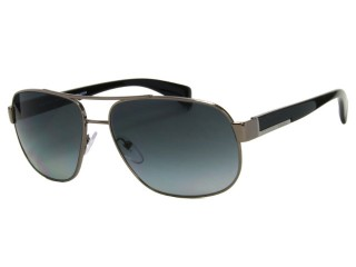 Prada SPR52P Gunmetal 5AV/5W1 Polarized Sunglasses