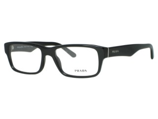 Prada Eyewear VPR16M Gloss Black (1AB) Eyeglasses 53MM