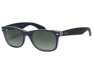 Ray Ban RB2132 New Wayfarer 6053/71 Top Matte Blue