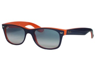 Ray Ban RB2132 New Wayfarer 789/3F Dark Blue Orange