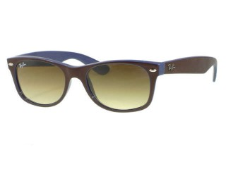 Ray Ban RB2132 New Wayfarer 874/51 Top Brown On Blue