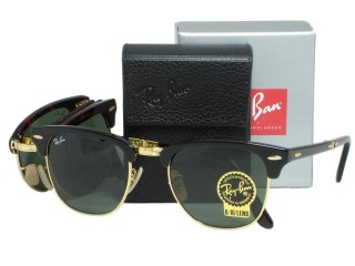 Ray Ban RB2176 Folding Clubmaster 901 Black Sunglasses