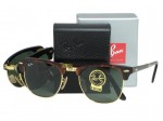Ray Ban RB2176 Folding Clubmaster 990 Red Havana Sunglasses