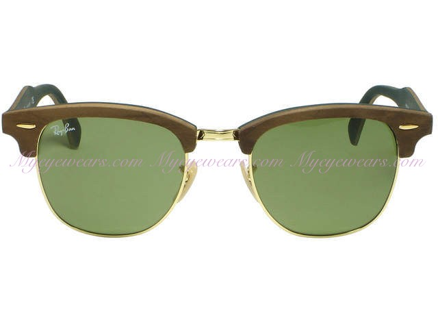 577a4824ff700 Ray Ban-Ray Ban RB3016M 1182 4E Walnut Wood Clubmaster Sunglasses ...