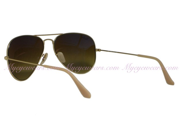 0326dd6fd Ray Ban-Ray Ban RB3025 Aviator 112/85 Matte Gold Brown Gradient ...