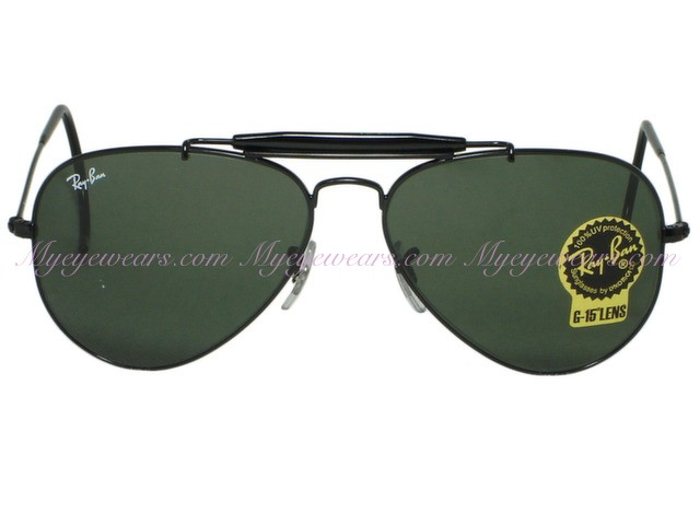 b322eb4cd Ray Ban-Ray Ban RB3030 Outdoorsman L9500 Black Sunglasses- - Online ...