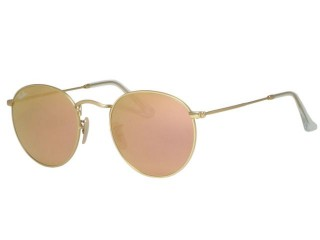 Ray Ban RB3447 Round Metal 112/Z2 Matte Gold Sunglasses