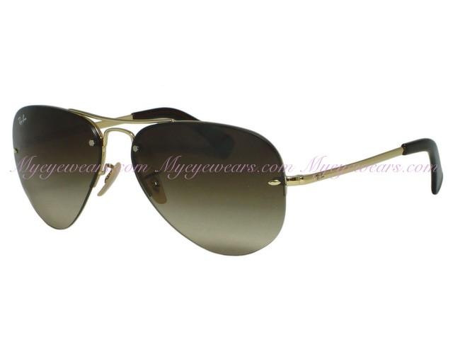 6785cccb85ec Ray Ban-Ray Ban RB3449 001/13 Gold Rimless Aviator Sunglasses 59MM ...