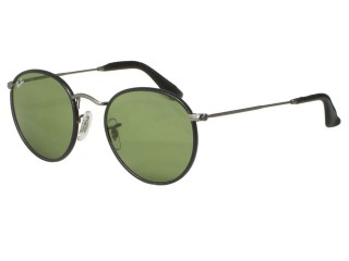 Ray Ban RB3475Q Leather Round 029/14 Matte Gunmetal