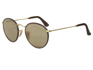 Ray Ban RB3475Q Leather Round 112/53 Matte Gold 50mm