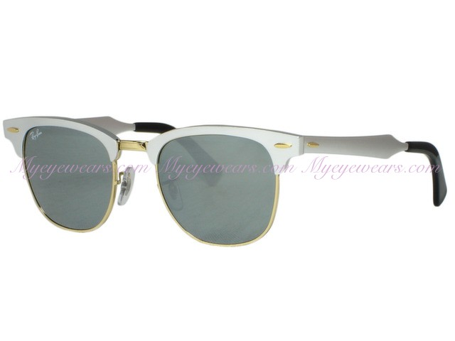 7502245321 Ray Ban-Ray Ban RB3507 Clubmaster Aluminum 137 40 Silver- - Online ...