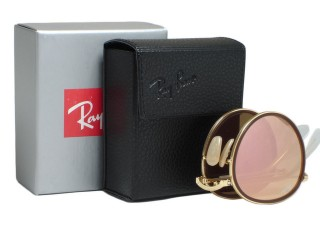 Ray Ban RB3517 Round  001/Z2 Gold Folding
