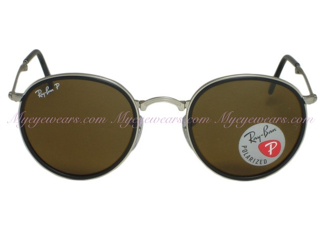 78e68fe60b8ea Ray Ban-Ray Ban RB3517 Round 019 N6 Matt Silver Folding Polarized ...