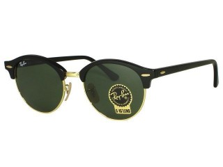 Ray Ban RB4246 Round Clubmaster 901 Black Sunglasses