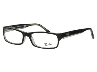 Ray Ban RX5114 2034 Black on Clear Eyeglasses
